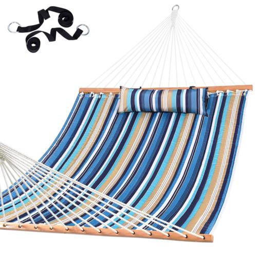 Lazy Daze Hammocks Quilted Fabric with Pillow for Two Person