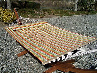 quilted spring color 2 person hammock bed