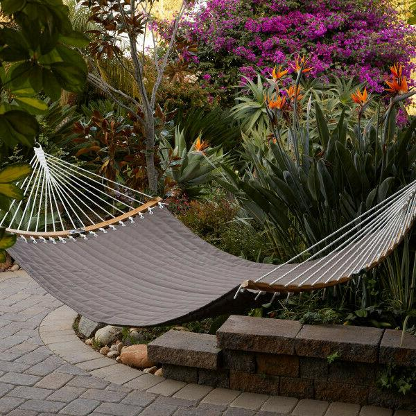 ravenna connectcurve quilted double hammock dark taupe