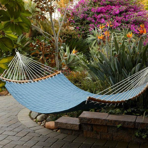 ravenna connectcurve quilted double hammock empire blue