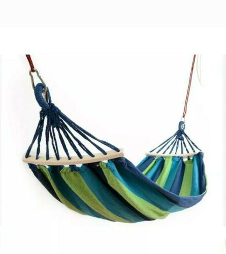 woven cotton rope hammock for porch white