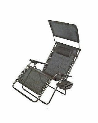 xxl gravity free recliner with canopy