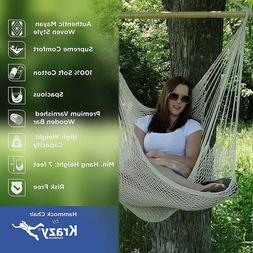 Large Cotton Rope Hammock Chair Natural White Swing Chair fo