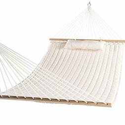 Lazy Daze Hammocks Double Quilted Fabric Swing with Pillow h