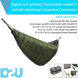 Length Hammock Underquilt Ultralight Camping Hiking Under Qu