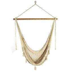Outdoor Classics Large Natural Colored Mayan Chair Hammock w