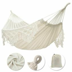 Morocco Hanging Cotton Rope Macrame Heavy Duty Hammock Chair