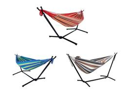 Multi-color 2-Person Double Hammock With Space Saving Steel