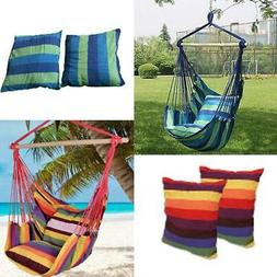 New Chair Hanging Rope Swing Hammock Outdoor Porch Patio Yar