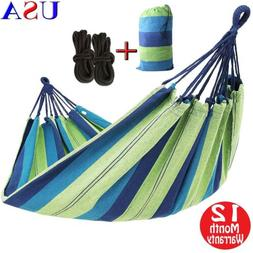 NEW Cotton Rope Hanging Hammock Swing Camping Canvas Bed Hea