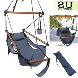 New Deluxe Hammock Hanging Patio Tree Sky Swing Chair Outdoo
