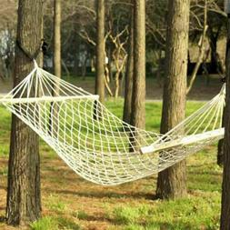 New Indoor Hanging Chair Cotton Rope Hammock Swing Seat Outd
