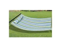 New, Outdoor, Multicolored, Hanging Patio Hammock, Double Si