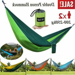 Nylon Double Person Hammock Adult Camping Outdoor Picnic Hik