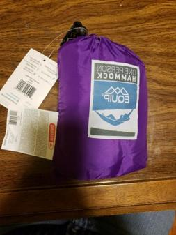 Equip ONE PERSON Purple Backpacking Hammock 400 lb Capacity