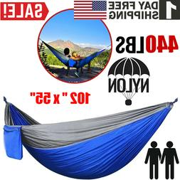 Camping Double Hammock Hunting Outdoor Garden Hanging Swing
