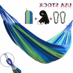Outdoor Camping Swing Hanging Bed Canvas Rope Hammock Travel