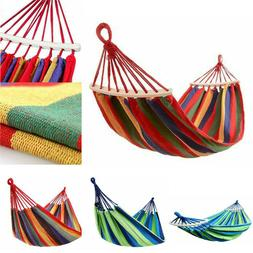 Outdoor Fabric Double Hammock Swing Hanging Bed for Patio, G