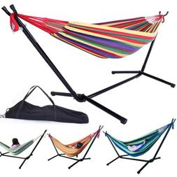 Outdoor Hammock Hanging Chair With Stand Space Saving Includ
