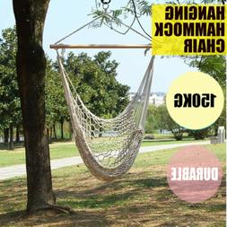 Outdoor Hammock Hanging Chairs Swing Cotton Rope Net Swing C