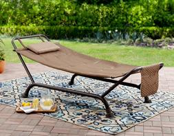 Outdoor Hammock with Stand Padded Comfort Bed Pillow Patio P