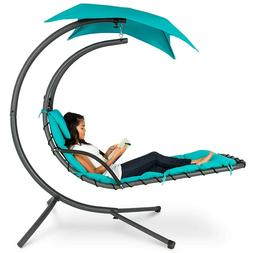Best Choice Products Outdoor Hanging Chaise Lounge Chair S