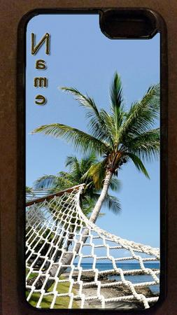 PERSONALIZED Hammock PALM TREE island BEACH CELL PHONE CASE