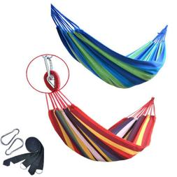 Portable Cotton Rope Camping Swing Bed Hammock Outdoor Trave