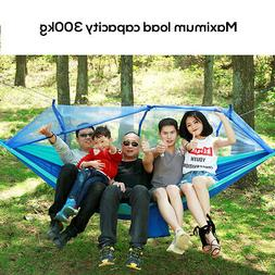 Portable Double Hammock with Mosquito Net Netting Hanging Be