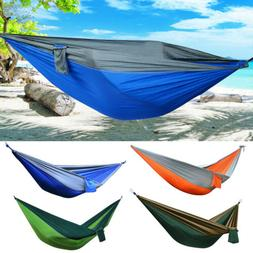 Portable Double Person Camping Hammock Nylon Travel Outdoor