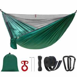 Portable Double Single Camping Hammock with Mosquito Net and