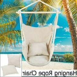 Portable Hammock Hanging Rope Chair Porch Swing Seat Patio C