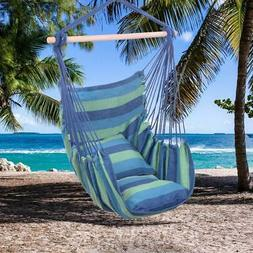 Portable Hammock Hanging Rope Chair Swing Seat Patio Camping