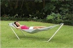 Portable Hammock with Steel Stand Pillow Camping Bed Outdoor