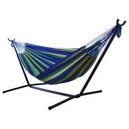 Portable Outdoor Canvas Hammock Stand Camping Sleeping Swing