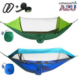 Portable Tent Camping Hammock Mosquito Net Rain Cover Waterp