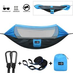 Portable Tent Camping Hammock Mosquito Net Sunscreen Cover W