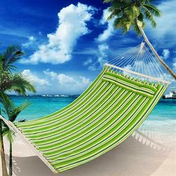 Printing Hammock Beach Swing Double Person Bed+Removable Pil