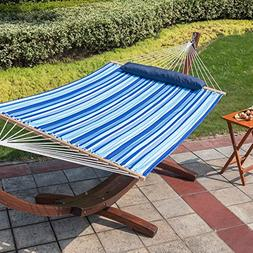 Lazy Daze Hammocks Hammock Quilted Fabric with Pillow for Tw