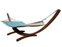 Petra Leisure Quilted Teal/Yellow TWO Person Hammock Bed. ST