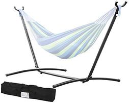 Space Saving Steel Hammock Stand 9' Outdoor Patio Portable W