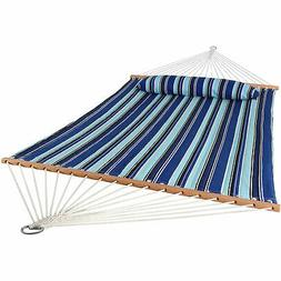 Sunnydaze Home Decor Quilted Double Fabric Hammock w/ Spread