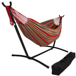 Sunnydaze Home Decor Red/Yellow Double Brazilian Hammock & S