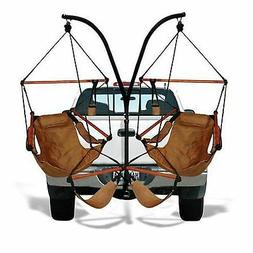 Trailer Hitch Stand and Hammock Chair Natural Tan Truck Seat