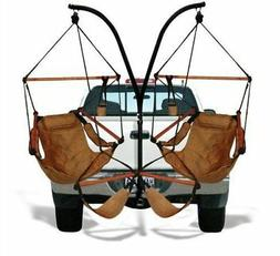 Trailer Hitch Stand and Hammock Chair Combo - Color: Natural