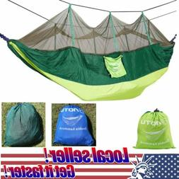 Travel Outdoor Camping Parachute Hammock Swing Bed With Mosq