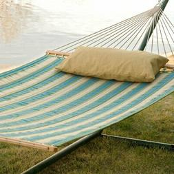 Twin Oaks Rainforest Quilted Sunbrella Fabric Double Hammock