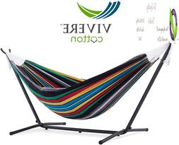 Vivere Uhsdo9-27 Hammock With Stand, 9', Rio Night With Char