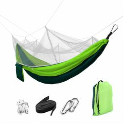 2 Person Travel Outdoor Camping Tent Hanging Hammock Bed Wit