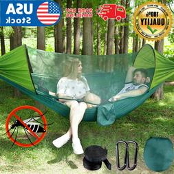US Double Person Camping Tent Hanging Hammock Bed with Mosqu